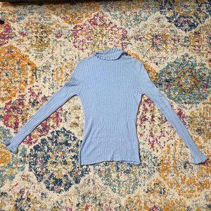 handmade wool top in light blue